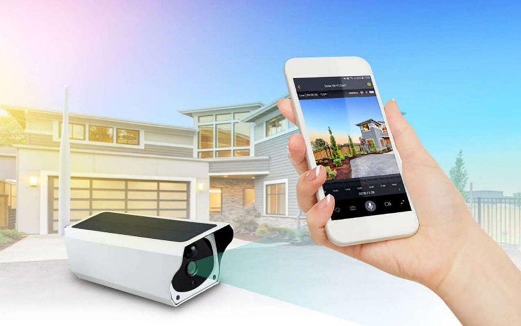 Videosorveglianza ip esterno su smartphone