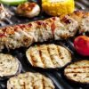 grigliata di verdure su bistecchiera